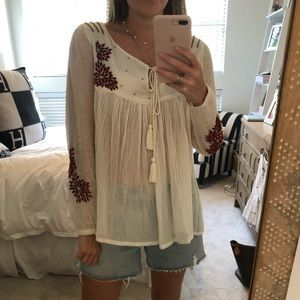 Glamorous embroidered blouse small